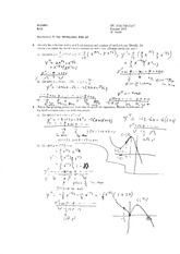 Worksheet 7 Solution on Calculus 1