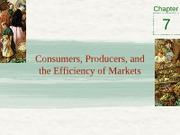Chapter 7 - Consumers, producers, and the efficiency of markets