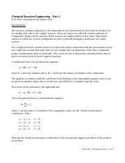 CRE notes 02 stoichiometry