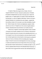 st augustine of hippo essay