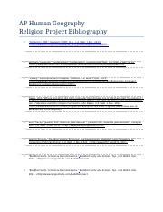 AP Human Geography Religious Project.docx