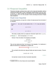 o	Section 4: Compound Inequalities
