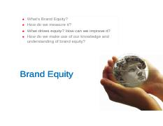 2. Brand Equity