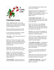A Candy Cane Christmas Lesson