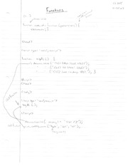 CS 205 Functions Notes