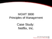 review case study 1 netflix and answer the five questions