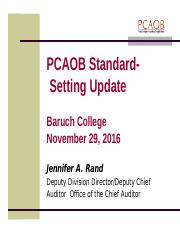 PCAOB Update - to post