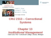 CRIJ 2313 - Chapter 13 - Fall 2011