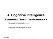 641 Ch 4 Cognitive Intelligence, Complex Task Performance