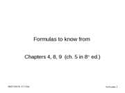FormulasToKnow-Chapters4-8-9(and5from8thEd)