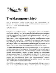 Management 456_Barry_Lecture Notes on the Management Myth