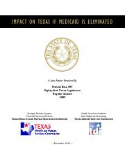 HHSC and TDI Impact on Texas
