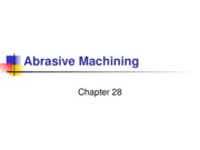 Abrasive Machining Processes