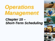 Ch 15 Short Term Scheduling