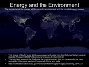 EnergyAndEnvironment - Lecture Slides for Exam 3