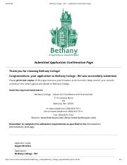 Bethany College - WV — Application Confirmation Page.pdf