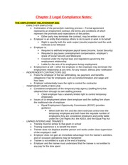 Chapter 2 Legal Compliance Notes