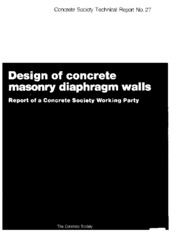 Design of concrete masonry diaphragm walls