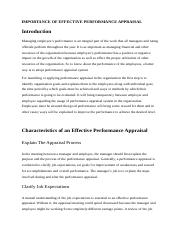 IMPORTANCE OF EFFECTIVE PERFORMANCE APPRAISAL.docx