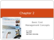 MBA 631 Chapter 2