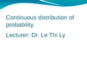 NEW-Lecture 3 Continous probability distribution