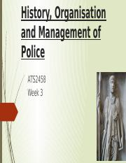 History, Organisation and Management of Police_Moodle