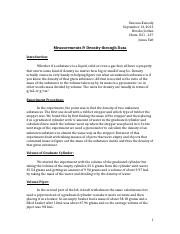 chem experiment 1 lab report