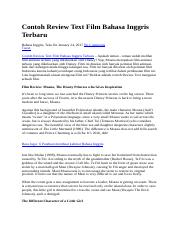 Contoh Review Text Film Bahasa Inggris Terbaru.docx ...