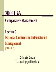 2005IBA-16 Lecture 3a - National Culture.ppt