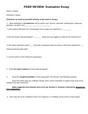 Evaluation Essay Peer Review1.doc