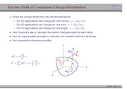30. Electric Field of Continuous Charge Distribution