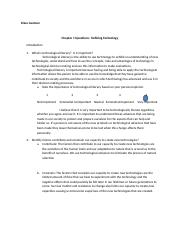 Chapter Questions 1 - Defining Technology