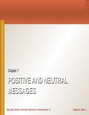 CHAPTER 7 Positive Neutral-2.ppt