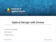 ODZ_Optical design with Zemax 8 Imaging