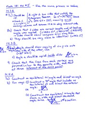 Homework 5 Solution on GEOMETRY FOR ELEMENTARY TEACHERS