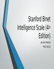 Stanford Binet Intelligence Scale (4th Edition)