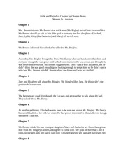Pride and Prejudice Chapter by Chapter Notes