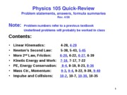Physics 105 Review Problems for 106