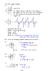 The Tangent Function