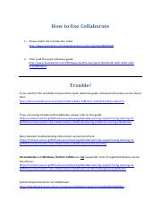 Collaborate - How To Use