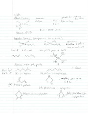 Alkene Structure, Degrees of Saturation and Epoxides Notes