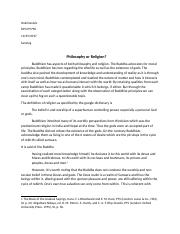 Philosophy or religion(Mini essay one).docx