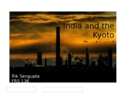 India and the Kyoto Protocol