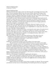 mcbride marketing plan essay