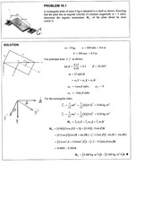 vector mechanics for eng dynamics 7thed chapt18 soln