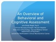 An Overview of Behavioral and Cognitive Assessment (1)