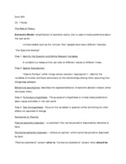 Economics 200 - Ch. 1 Notes