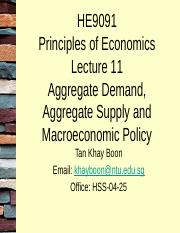 HE9091 Lecture 11 Aggregate Demand, Aggregate Supply and Macroeconomic Policy.pptx