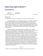 PSCY 324 Short Essay Quiz 6 Week7.docx
