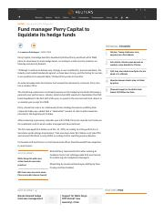 Fund manager Perry Capital to liquidate its hedge funds.pdf